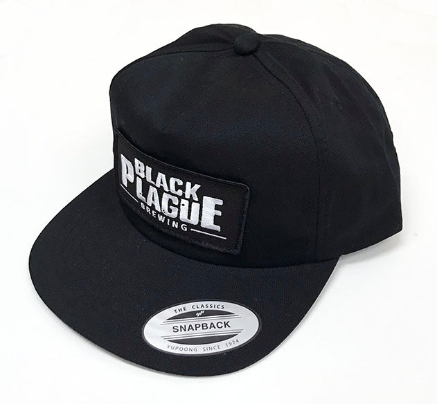 Snapback Hat (Black Unstructured) - Black Plague Brewing Shop