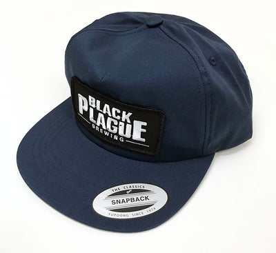 Snapback Hat (Navy Blue Unstructured) - Black Plague Brewing Shop