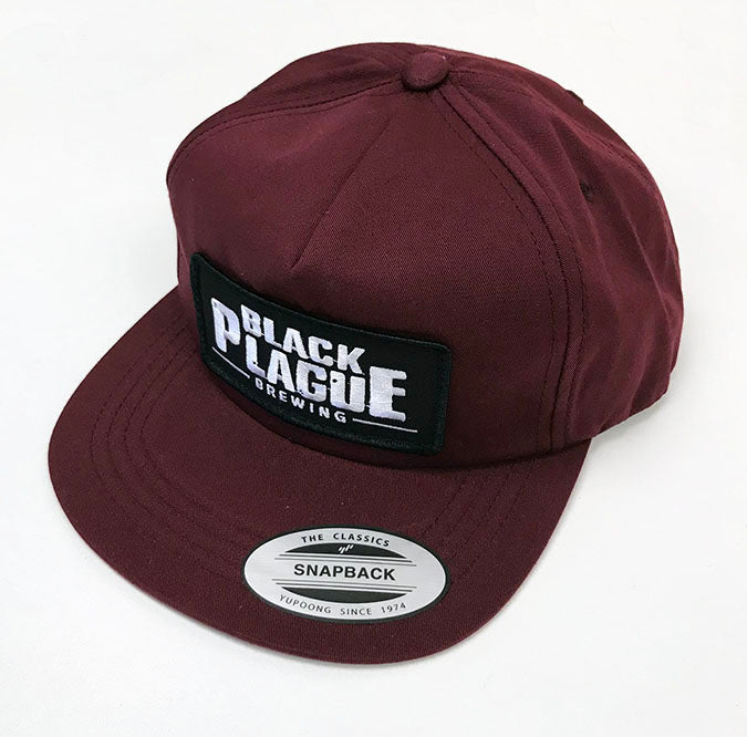 Snapback Hat (Oxblood Unstructured) - Black Plague Brewing Shop