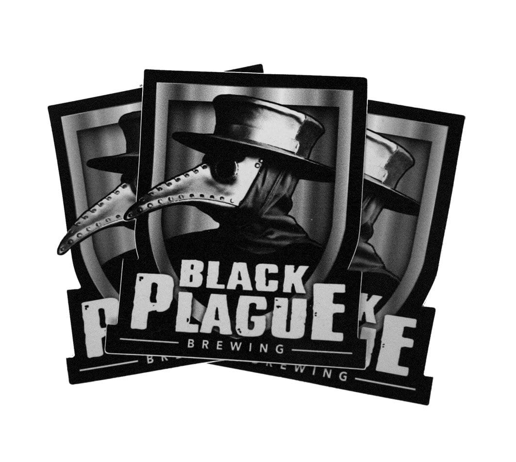 Plague Doctor Sticker Pack - Black Plague Brewing Shop
