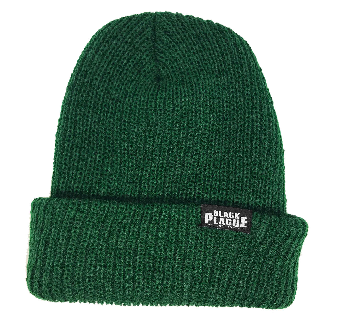 Black Plague Beanie - Forest Green