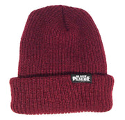 Black Plague Beanie - Oxblood