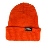 Black Plague Beanie - Safety Orange