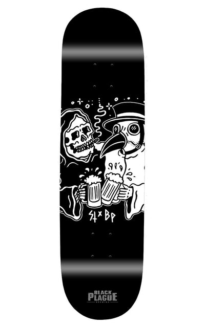 Beer Makes Friends (Sketchy Tank) Skateboard Deck