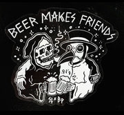 Sticker - Beer Makes Friends (Sketchy Tank)
