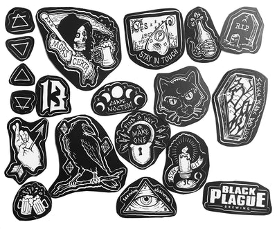 Black Plague Flash Sticker Pack