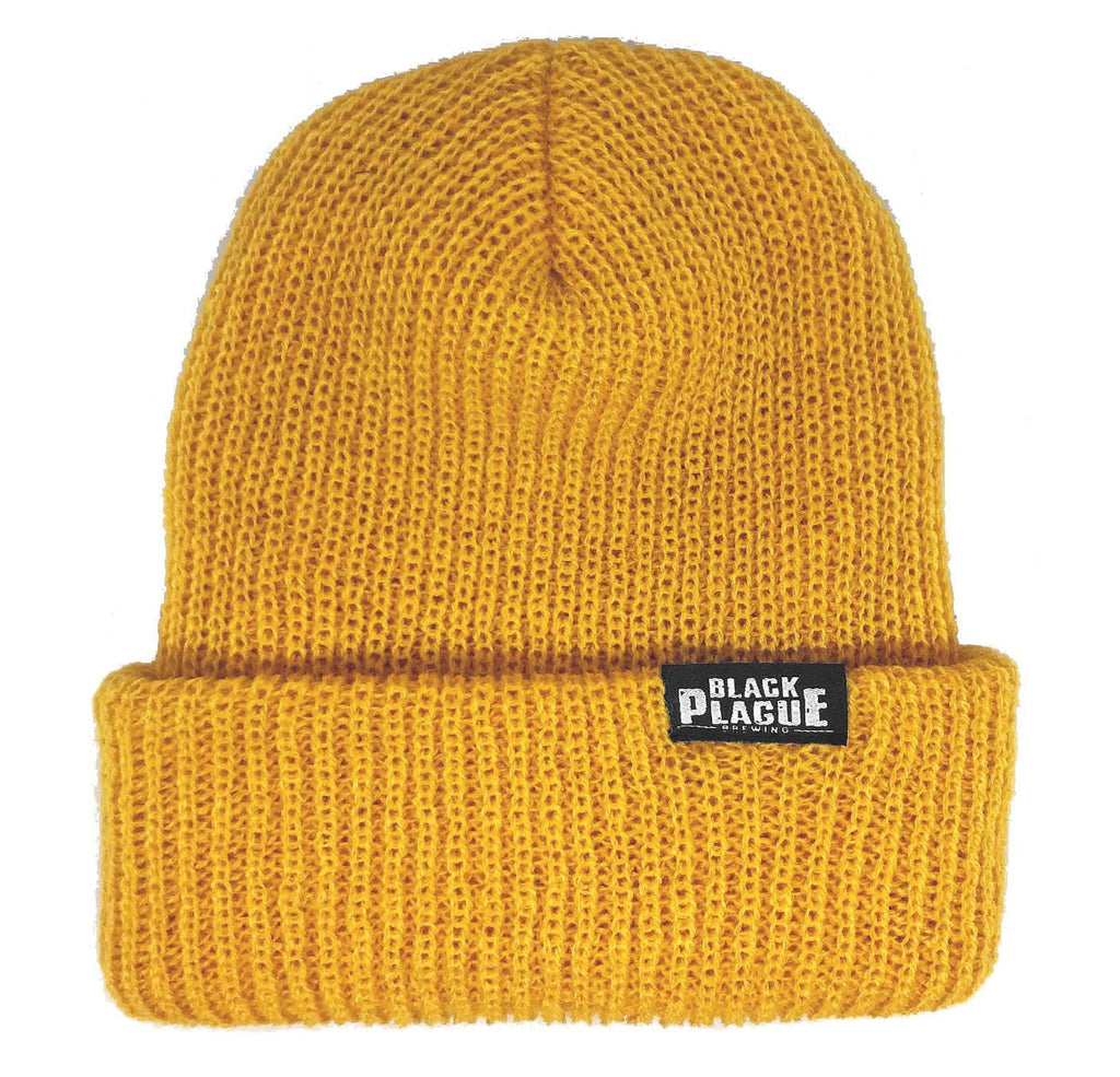 Black Plague Beanie - Yellow