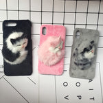 3D Sleepy Cat iPhone Case