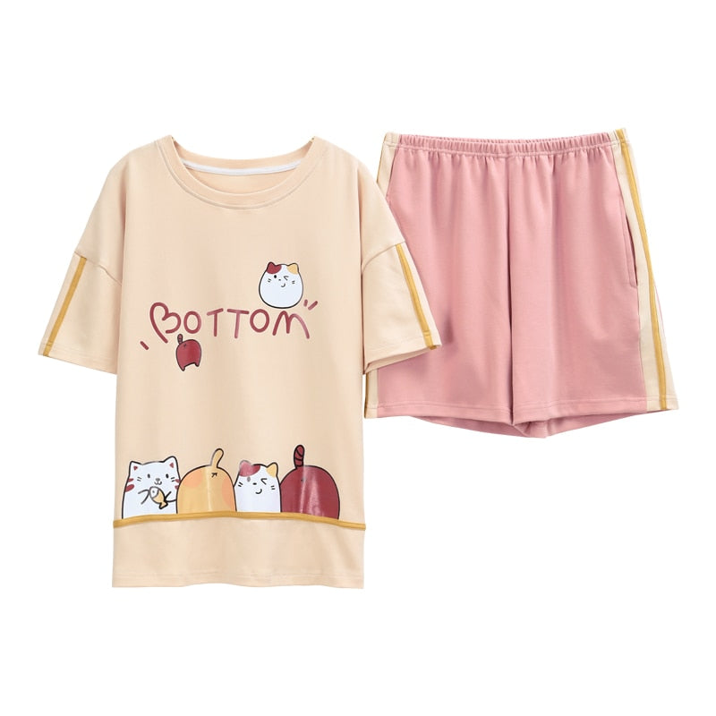 Sweet Cat Pajamas PJ Set For Women