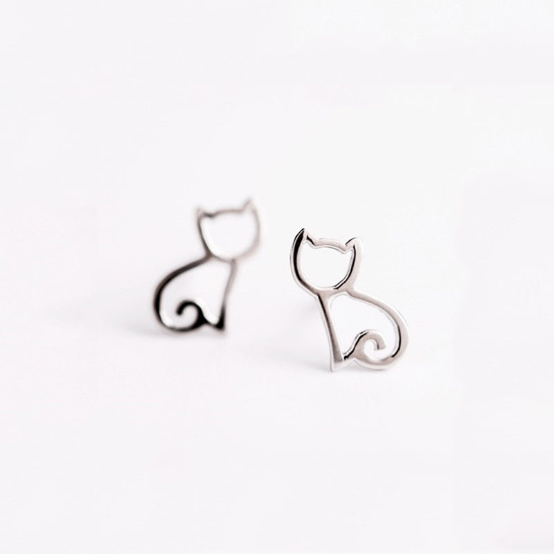 Tiny Cat Stud Earrings