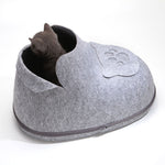 Cat Sleeping Boot House