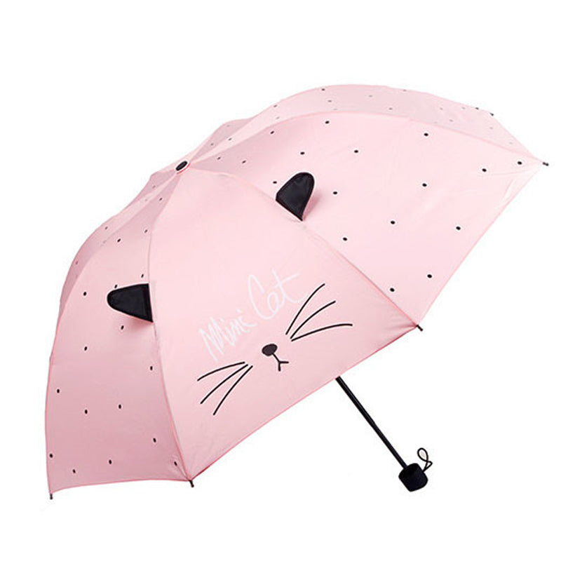 Cat Pattern Foldable Umbrella