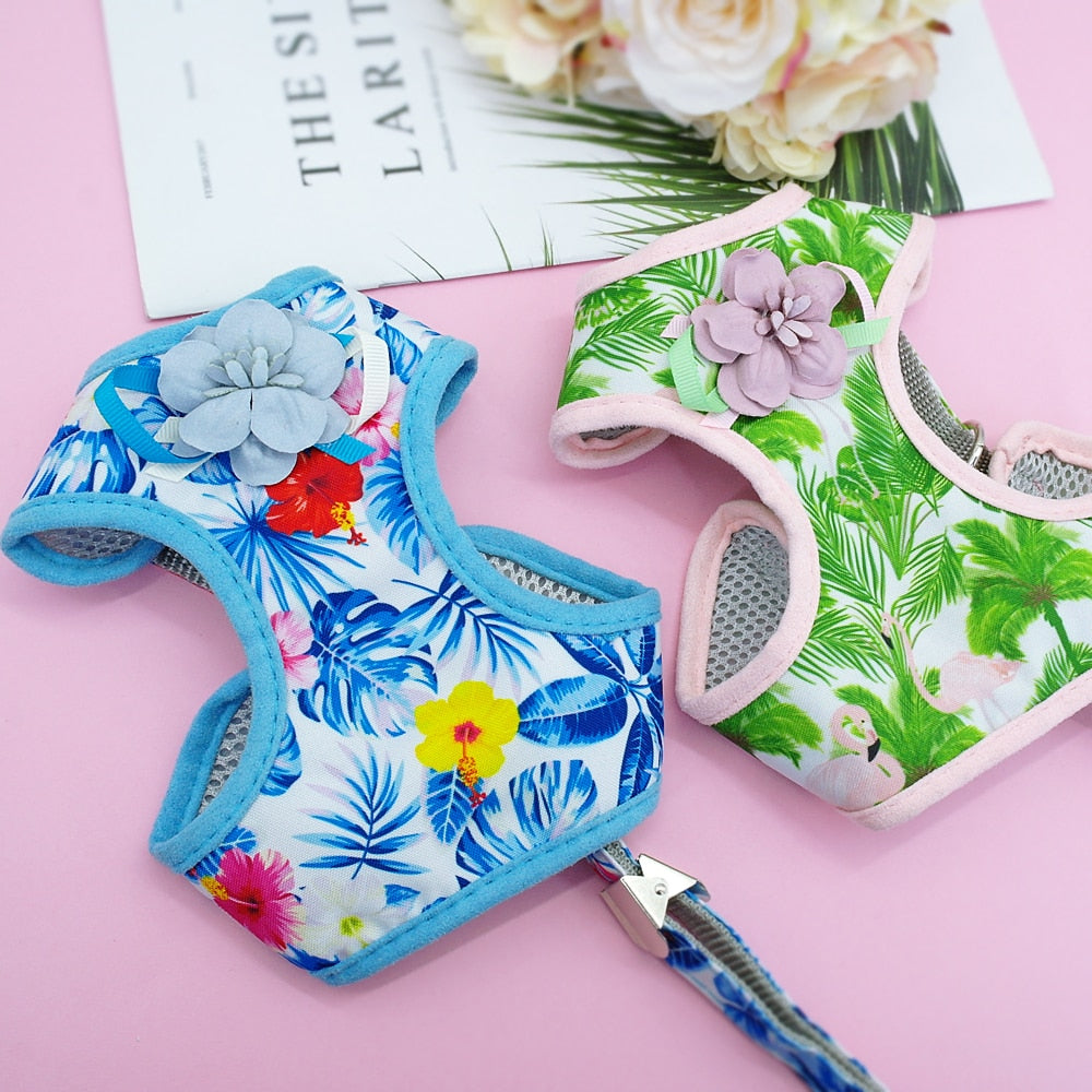 Floral Cat Harness and Leash