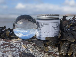 No 2: White Horses of The Minch. Lime, Basil and Mandarin, Luxury Candle Jar.