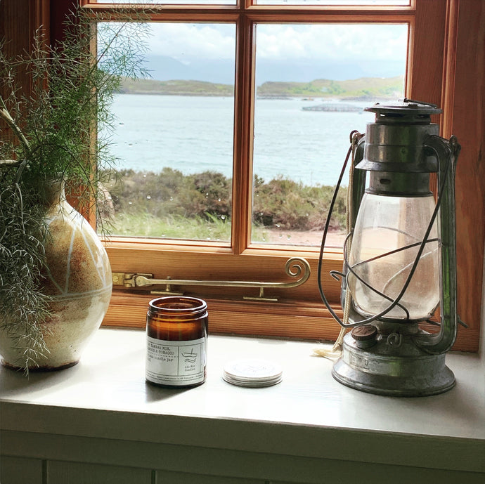 No 4: Tanera Mor. Oakwood and Tobacco, Luxury Candle Jar.