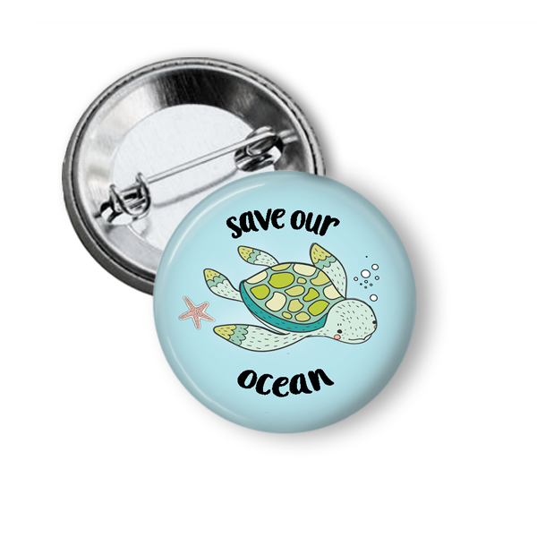 Climate Science and Wildlife Pinback Buttons