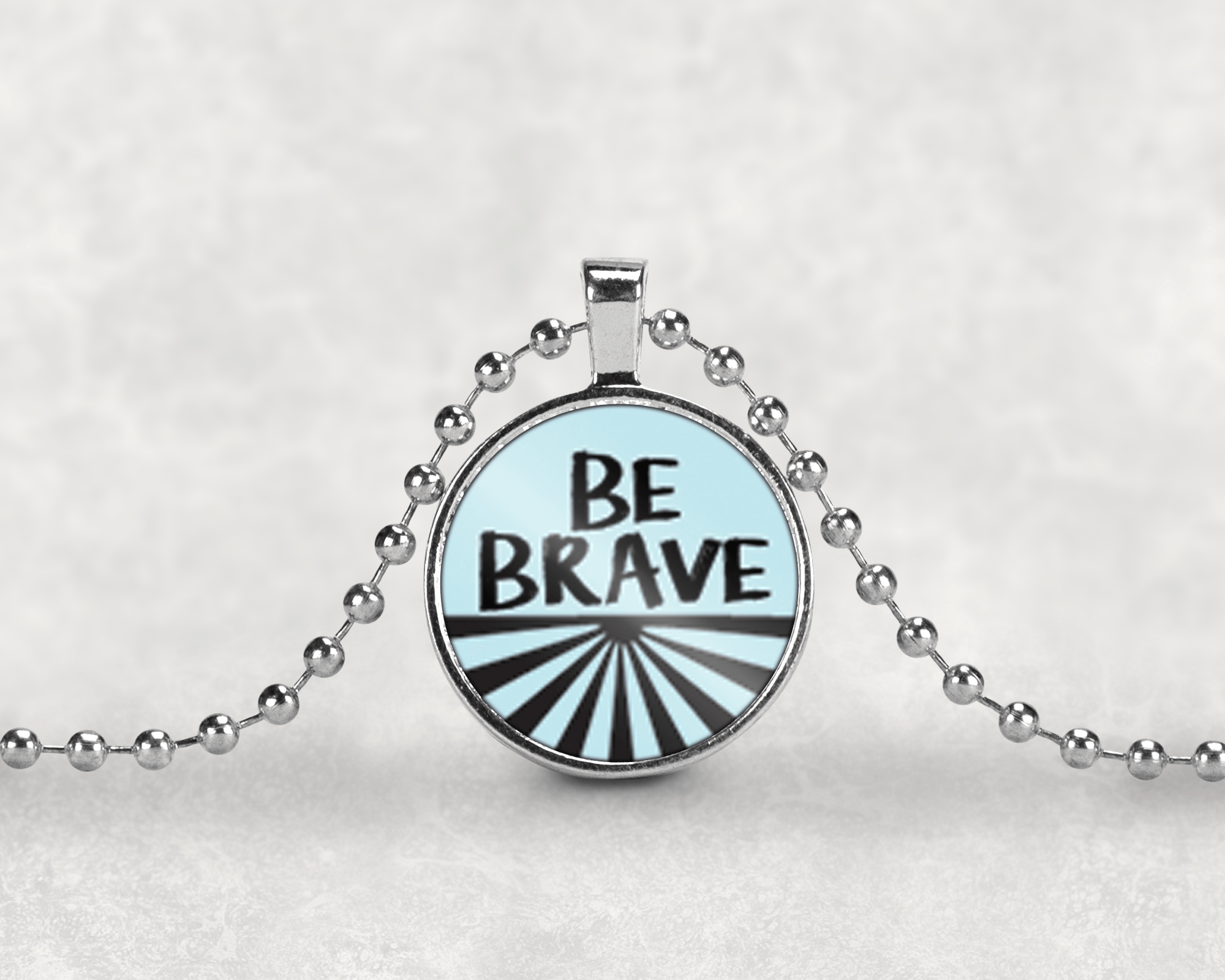 Be Brave Necklace in Beautiful Silver Setting