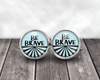 Be Brave Post Earrings