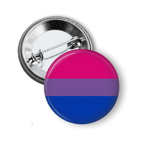 Bisexual Pride Flag Pinback Button Pins Buttons For the People