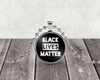 Black Lives Matter Necklace in Silver Setting