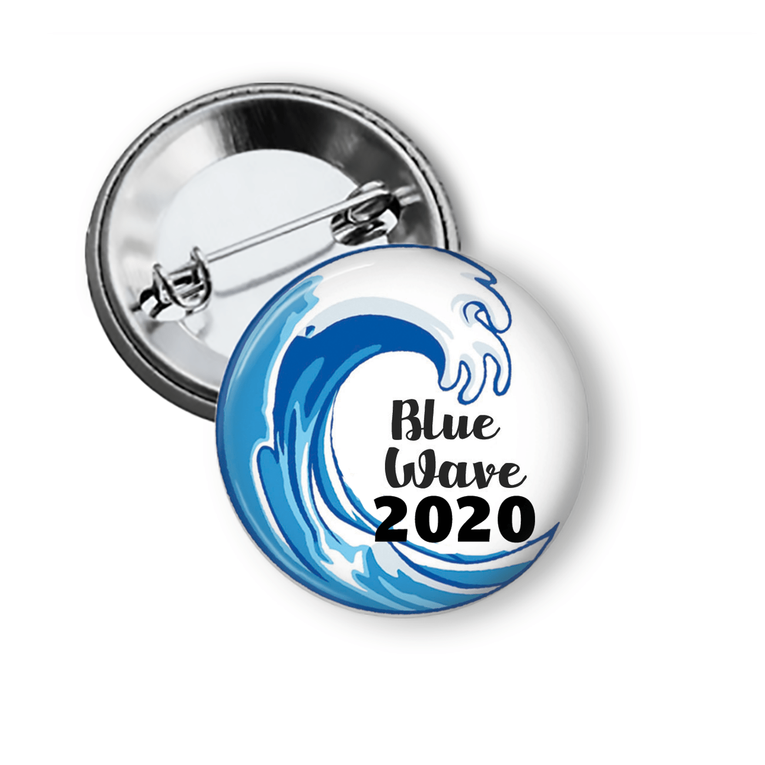 Blue Wave Democratic Pinback Button 2020 Pins Buttons For the People