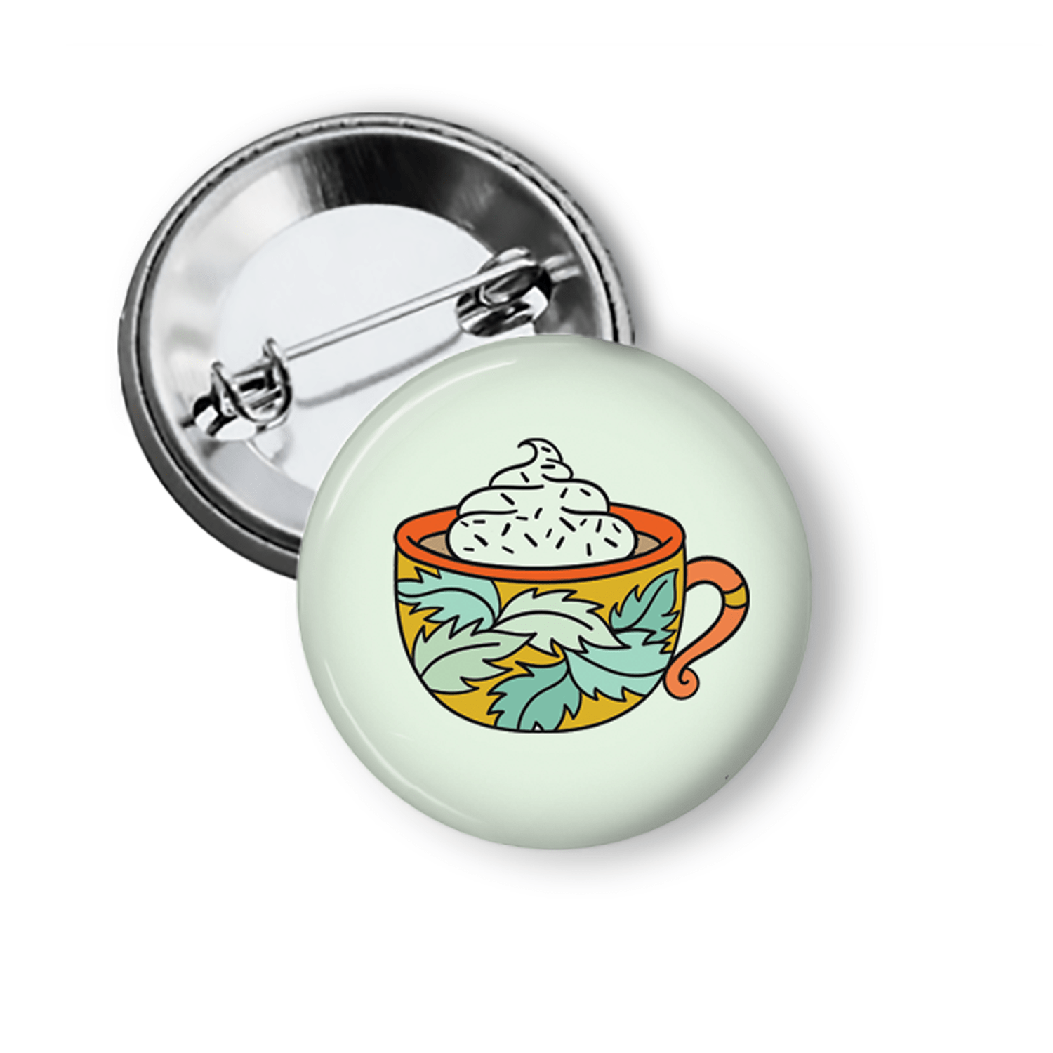 Fun Pins for Fall Mug of Cocoa Pins Buttons For the People