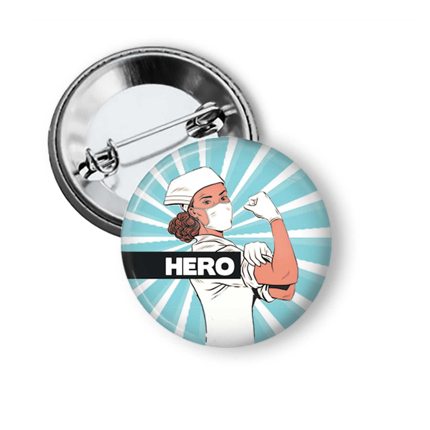 Healthcare Workers are Heroes Pin Button Pins Buttons For the People