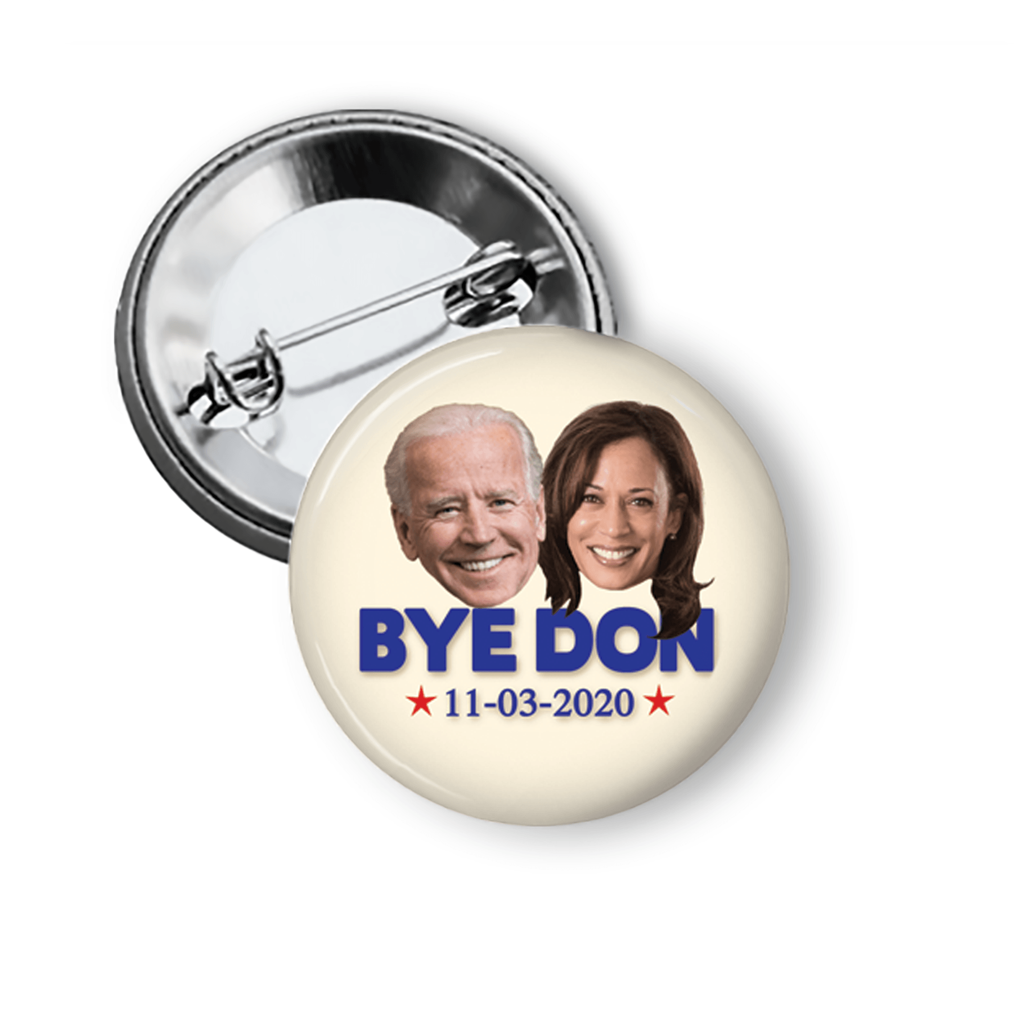 Joe Biden Kamala Harris Bye Don 2020 Campaign Button Pins Buttons For the People
