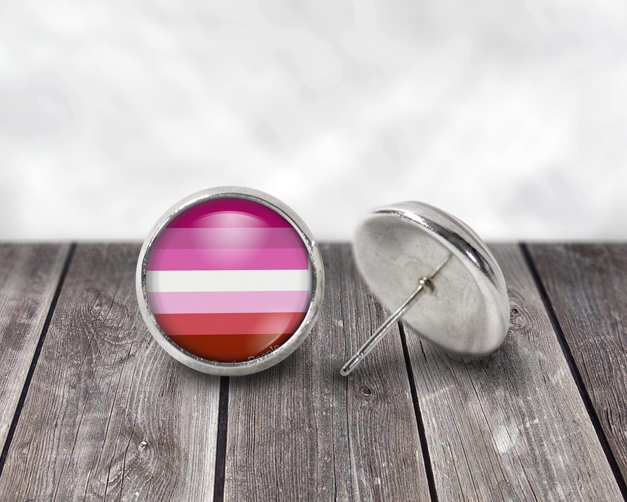 Lesbian Flag Post Earrings