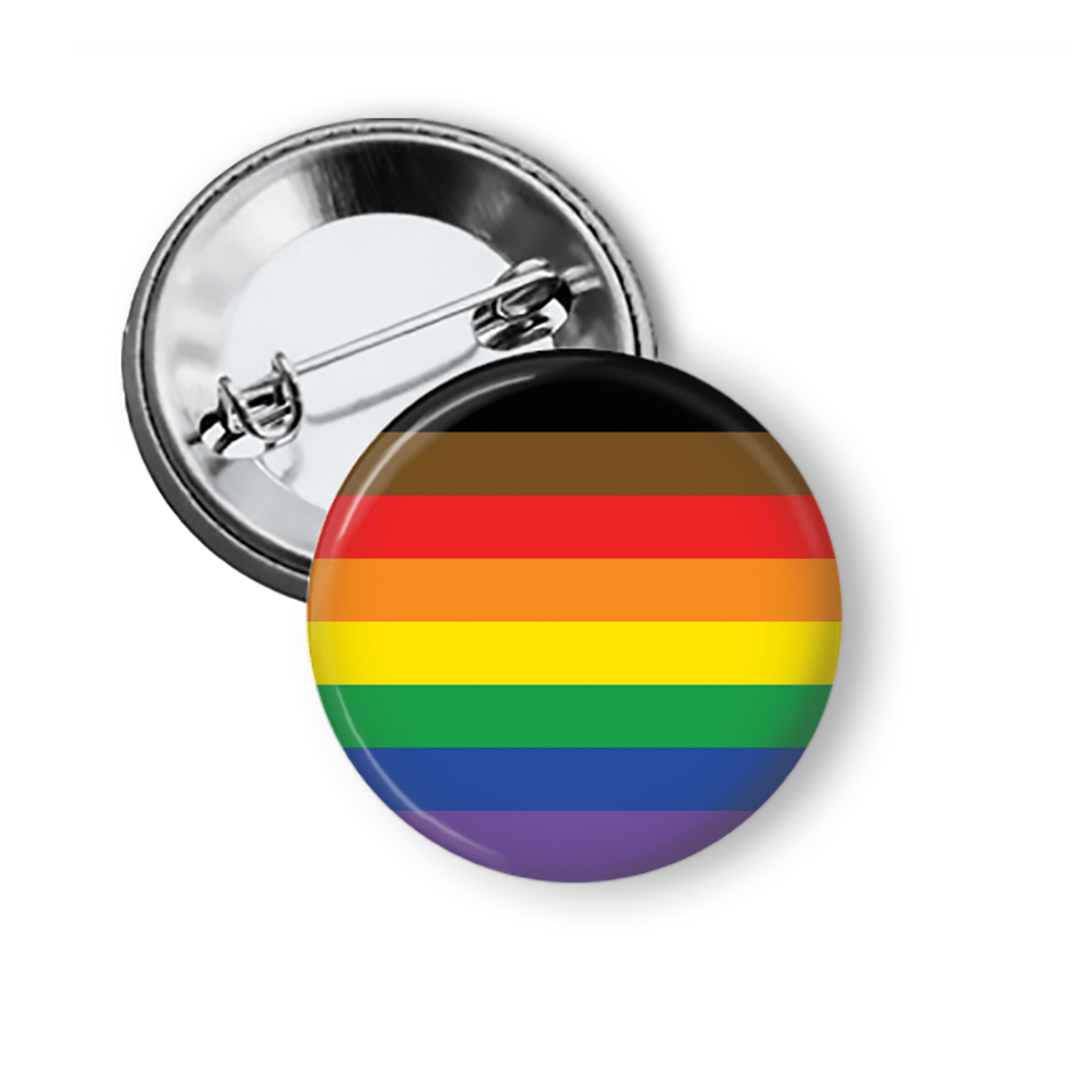 LGBTQIA Pinback Button Collection New Gay Pride Flag. Pins Buttons For the People