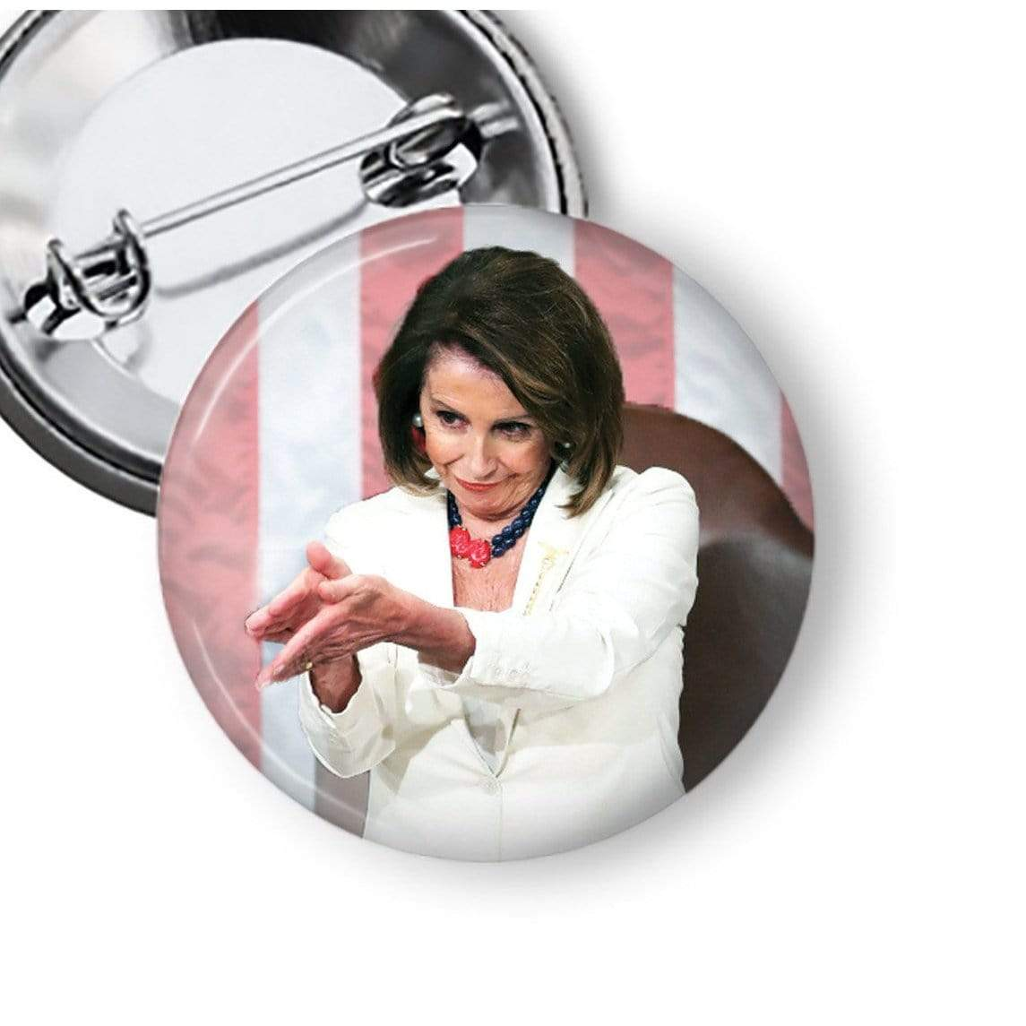 Nancy Pelosi Clap Back Pin Pins Buttons For the People