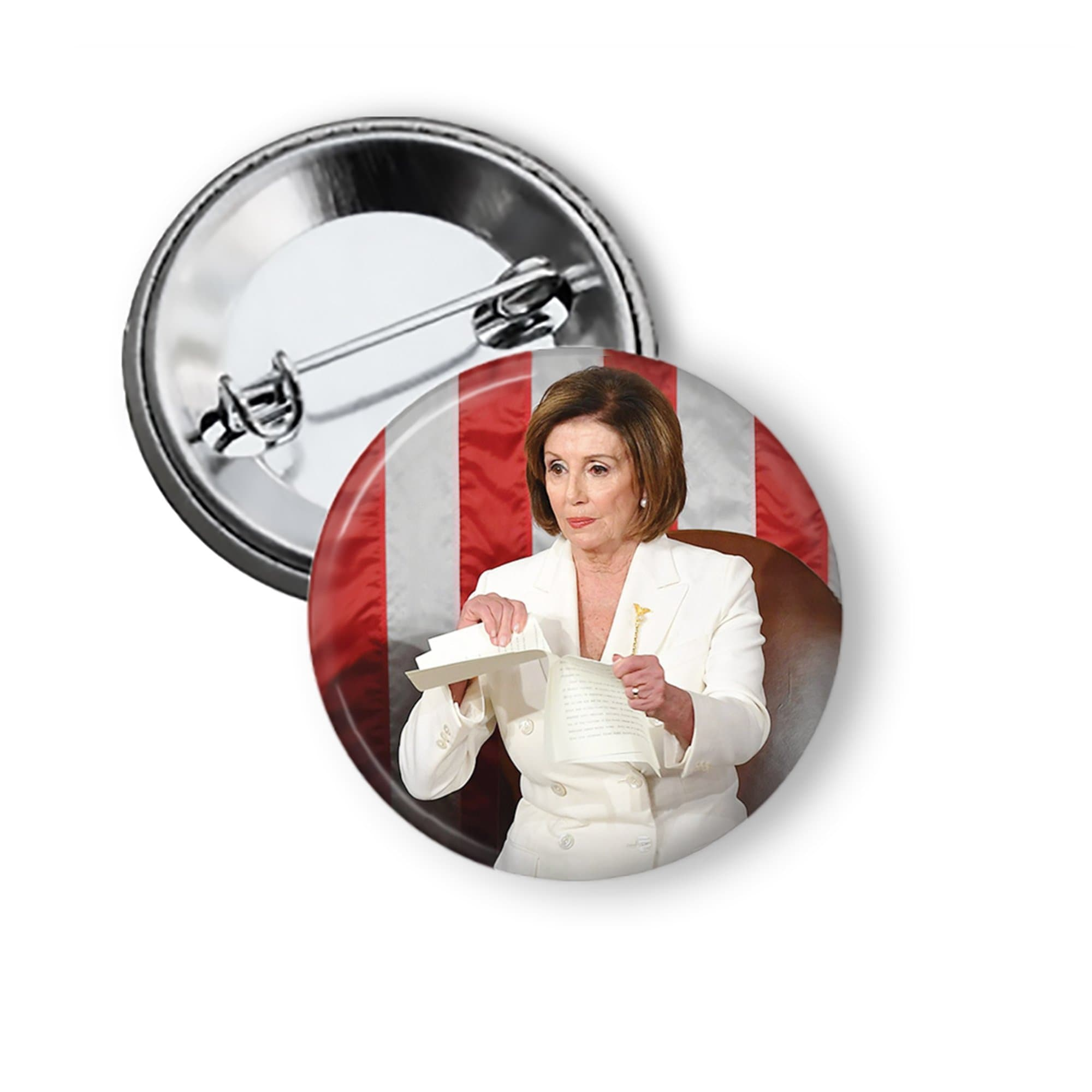 Nancy Pelosi Tearing 2020 State of the Union Pin Pinback Button Pins Buttons For the People