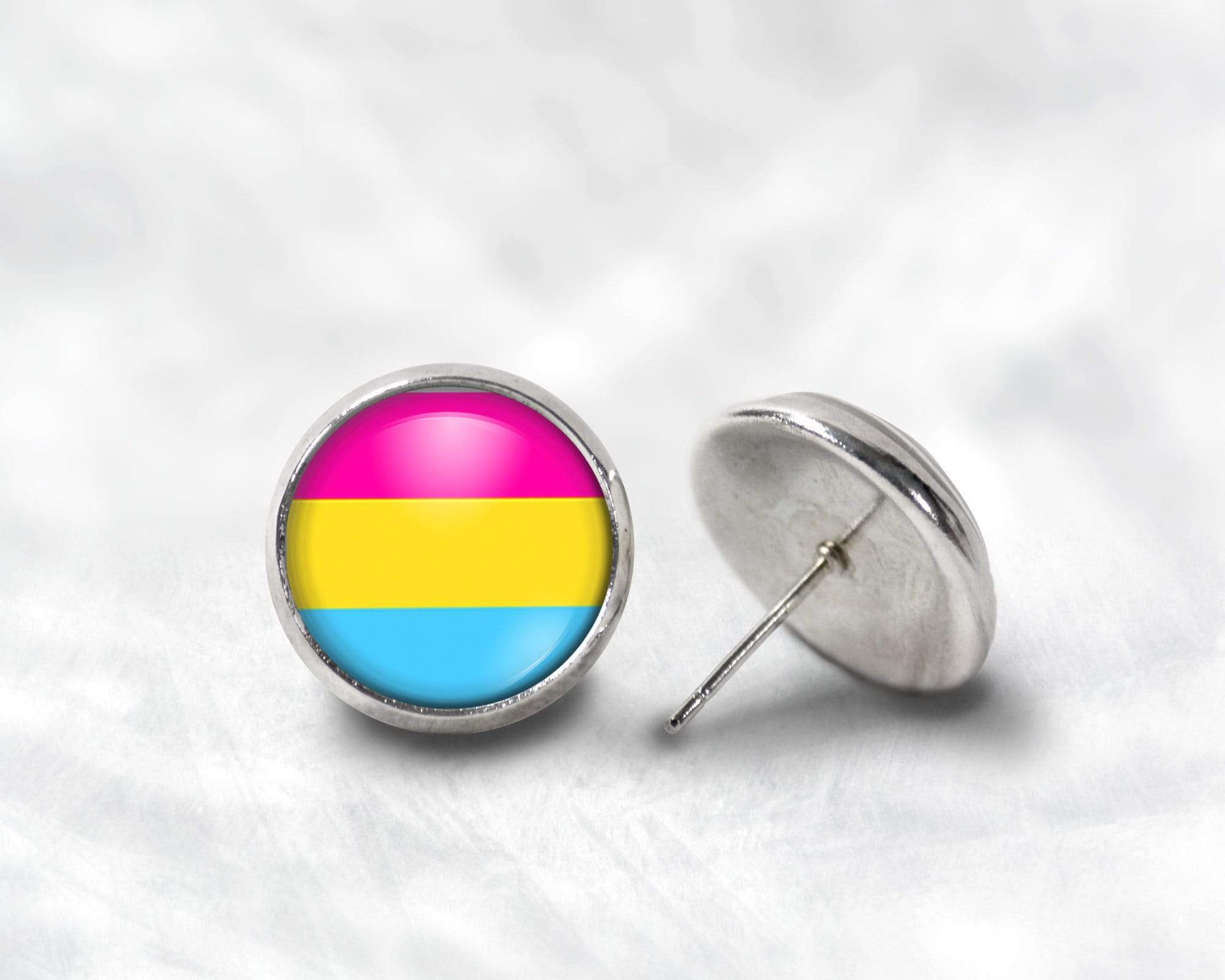 Pansexual Post Earrings Post Earrings Buttons For the People