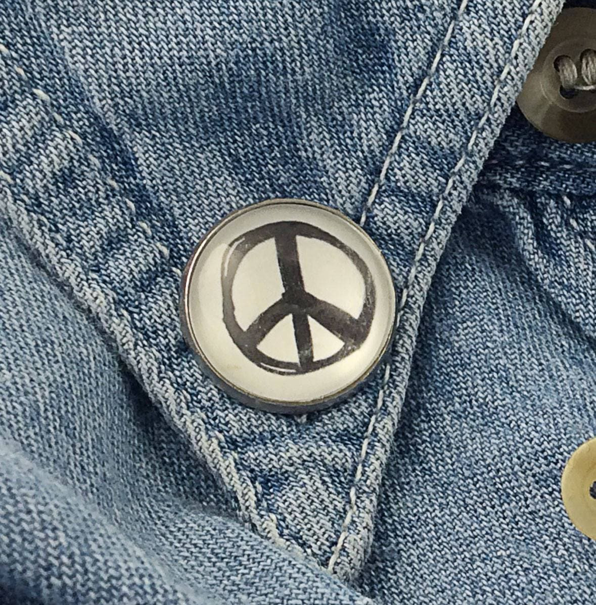 Peace Sign  Lapel Pin Great For Backpacks too! Pins Buttons For the People