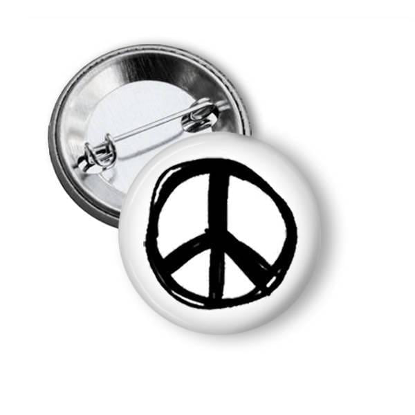 Peace Sign Pin Pins Buttons For the People