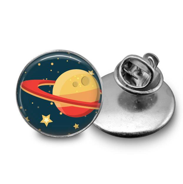 Planet Saturn Lapel Pin Lapel Pin Buttons For the People