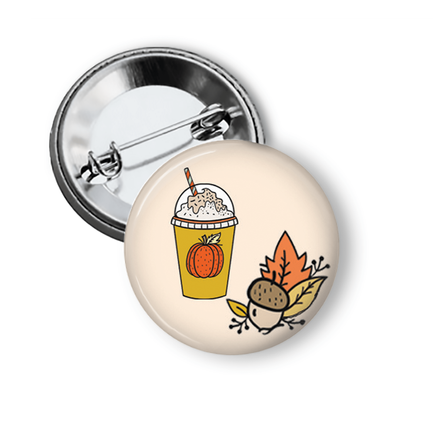 Pumpkin Spice Latte Fun Pin for Fall Pins Buttons For the People