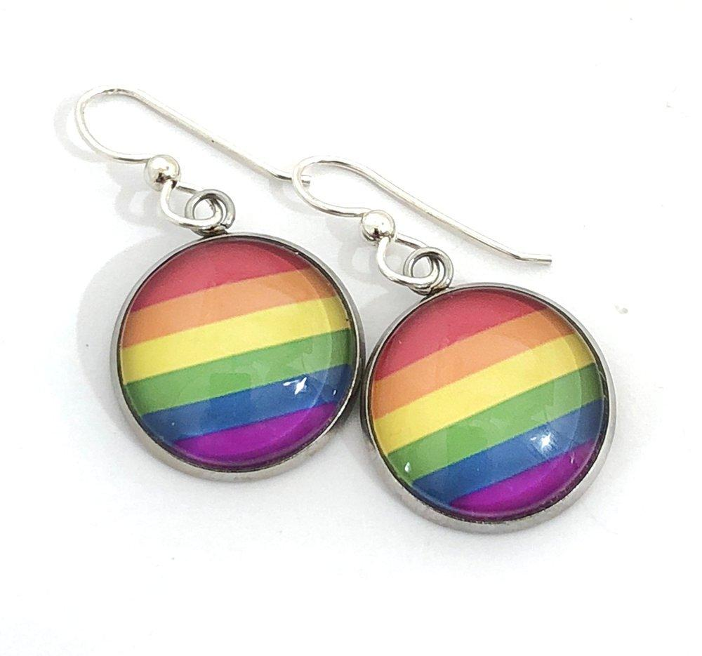 Rainbow Flag Earrings