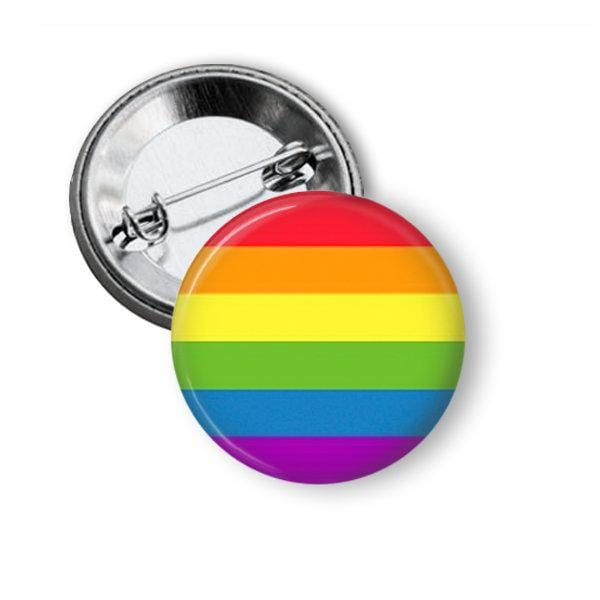 Rainbow Flag Pin Gay Pride Button! Pins Buttons For the People