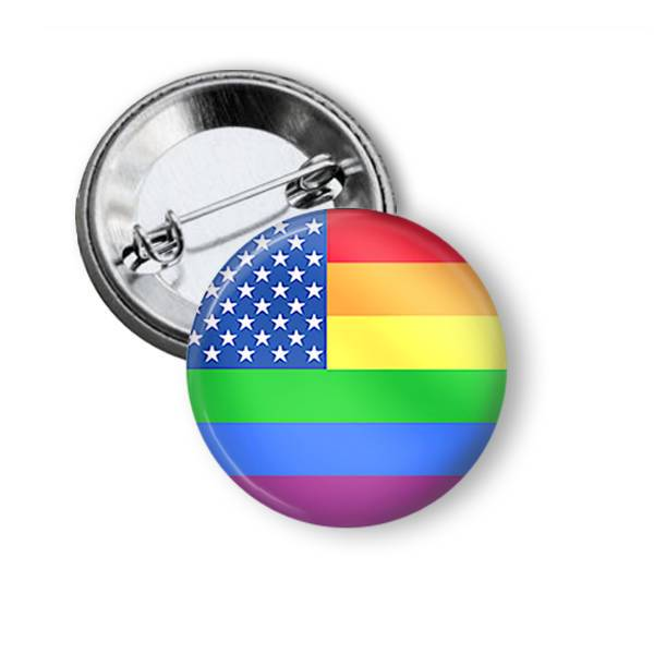 Rainbow Flag Pin Pins Buttons For the People