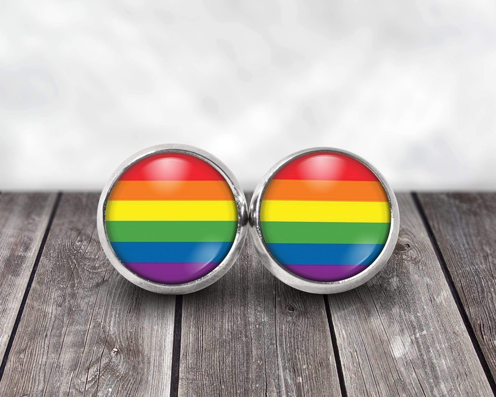 Rainbow Flag Post Earrings