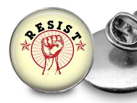 Resist Pin Lapel Pin Buttons For the People