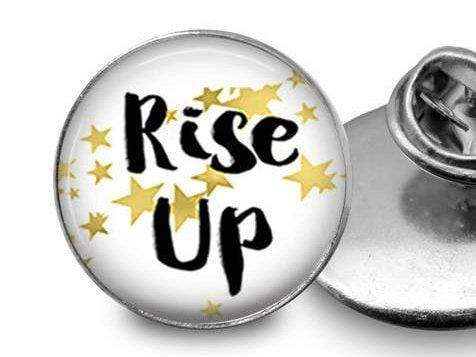 Rise Up Pin Lapel Pin Buttons For the People