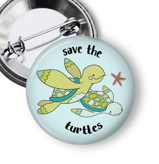 Save the Turtles Pin Pins Buttons For the People