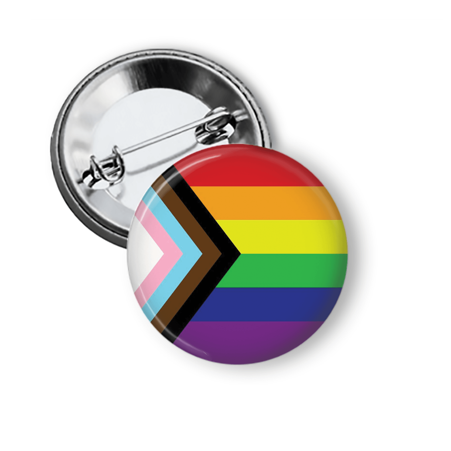 Transgender Inclusive Gay Pride Rainbow Flag Pinback Button Pins Buttons For the People