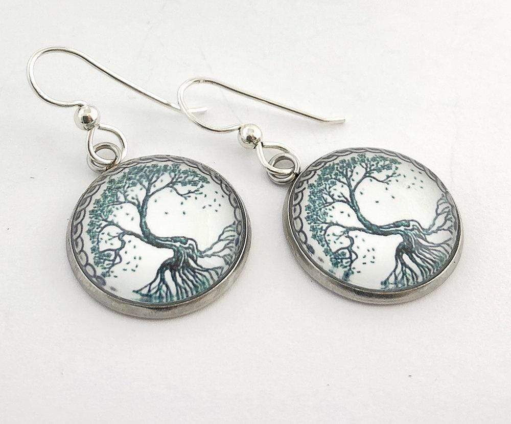 Tree of Life Drop Earrings 18mm Earrings Buttons For the People