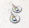 United Methodist Rainbow Cross Earrings Earrings Buttons For the People