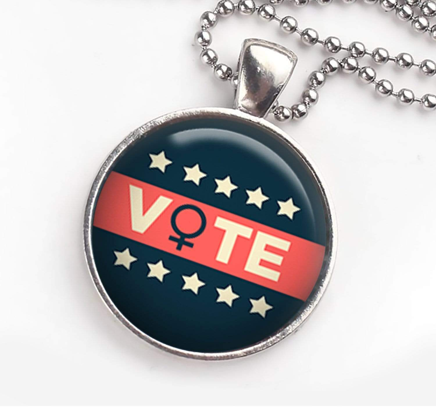 Vote Necklace With Women's Symbol Necklace Buttons For the People