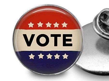 Vote Pin Great For Backpacks! Lapel Pin Buttons For the People