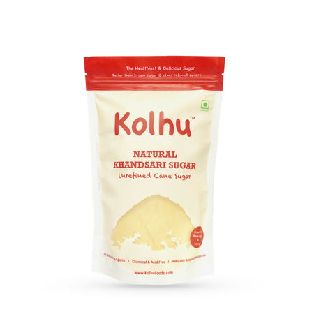 Kolhu Natural Khandsari Sugar 60Kg [Pack of 120, 500g Each]